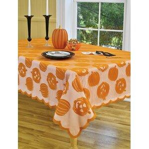 Pumpkin Patch Oblong Lace Tablecloth