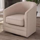 Macauley Swivel Barrel Chair by Gracie Oaks