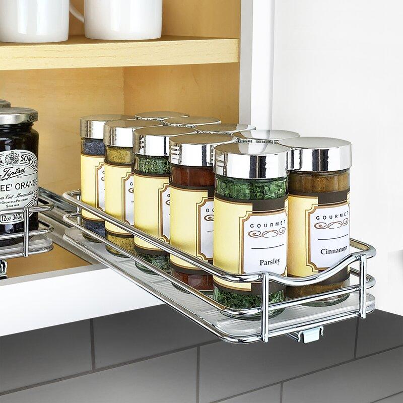 Lynk Professional Slide Out Upper Cabinet Organizer 10 Jar ...