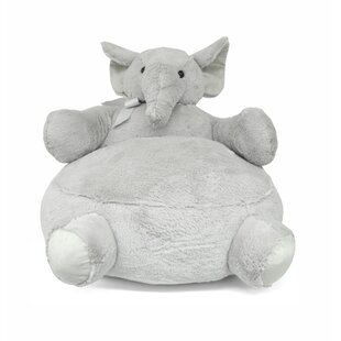 Argill Elephant Figural Plush Kids Chair by Harriet Bee