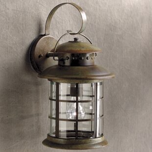Affordable Price May 1-Light Outdoor Wall Lantern By Longshore Tides