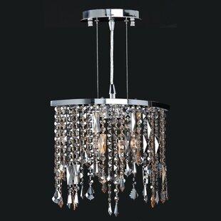 Leist 2-Light Crystal Chandelier