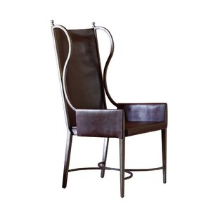 Global Views Genuine Leather Upholstered Dining Chair