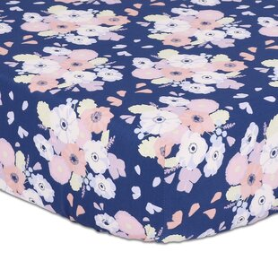 Affordable Floral Fitted Crib Sheet By The Peanut Shell