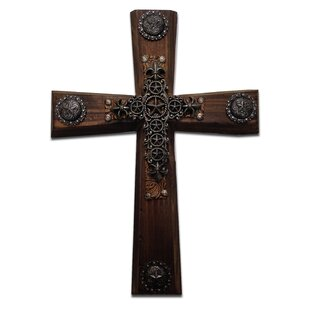 Rustic Wood Cross Wall Decor Set Of 2