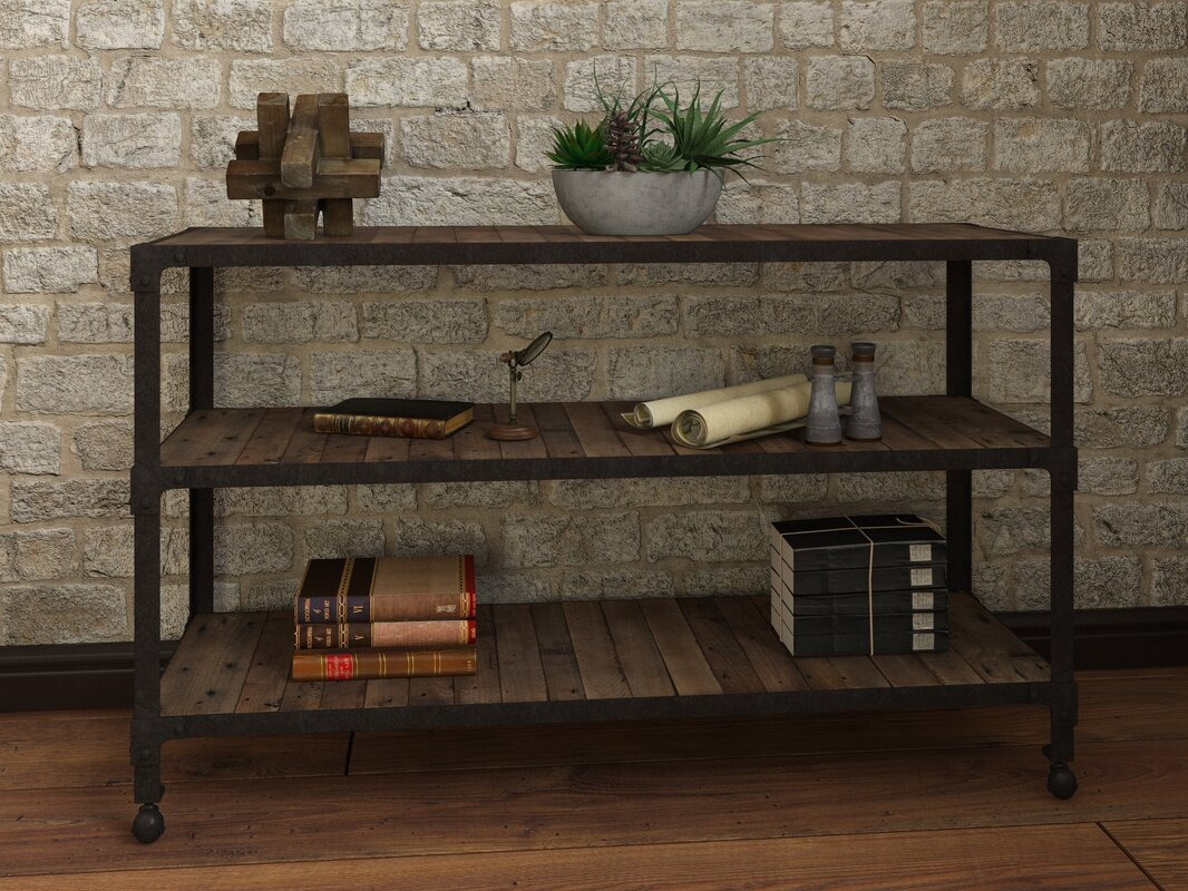 Industrial console sofa tables youll love wayfair crafton console table geotapseo Images