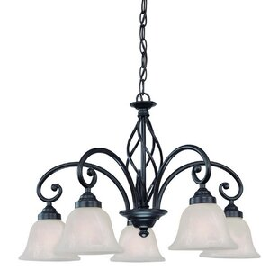 Dolan Designs Wicker Park 5-Light Shaded Chandelier