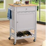 Kuntz Wheeled Kitchen Cart by Alcott Hill®