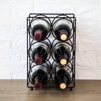 Red Barrel Studio Karnes Mini Scalloped 24 Bottle Tabletop Wine Bottle Rack Wayfair