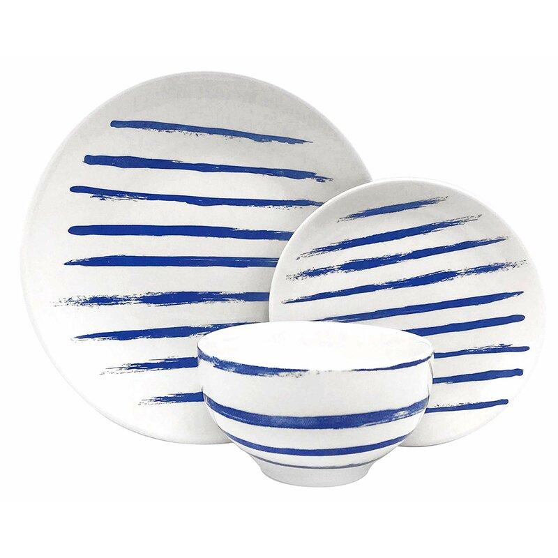 Soup Bowl Melange Coupe 18 Piece Porcelain Dinnerware Set Microwave Black Lines Collection 6 Each Service For 6 Dishwasher Oven Safe Salad Plate Dinner Plate Dinnerware Sets Kitchen Dining