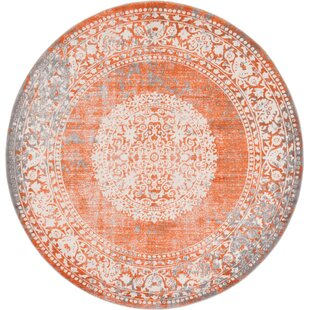 Willcox Orange Area Rug by Mistana