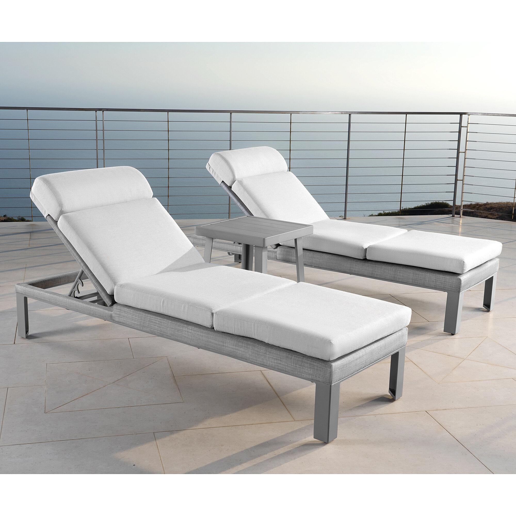 Latitude Run Shiey Sun Lounger Set With Cushions Wayfair