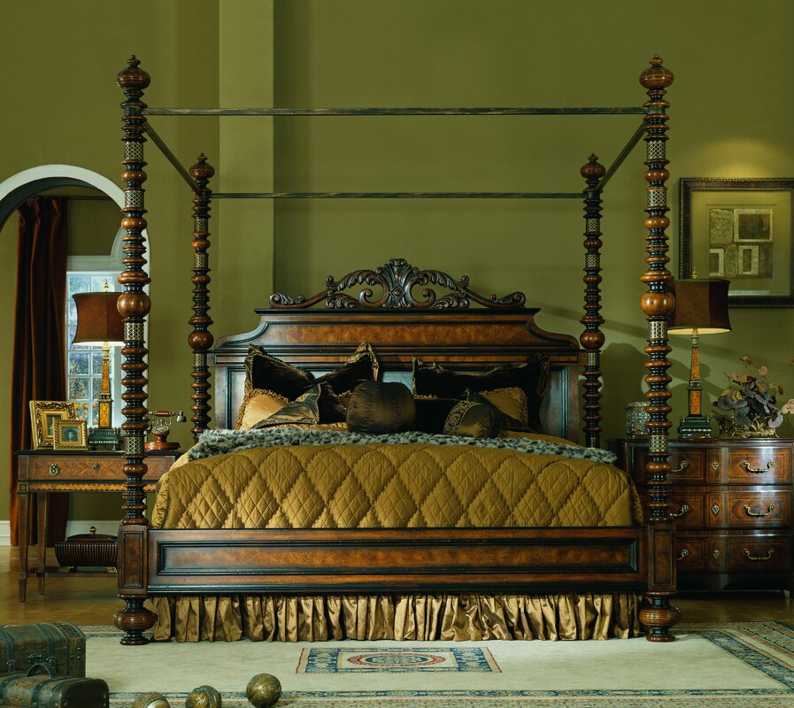 lisbon king canopy bedroom set