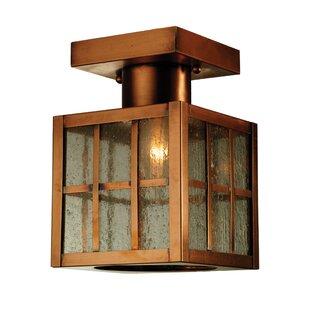 Meyda Tiffany Hudson Welcome Lantern 1-Light Semi-Flush Mount