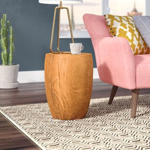 Aaliyah Mango Merlot Twist End Table by Langley Street