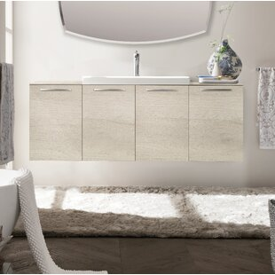 Mission 55 Wall-Mounted Single Bathroom Vanity Set by Orren Ellis