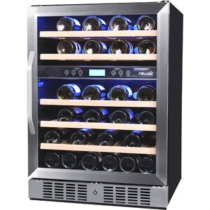 46 Bottle Dual Zone Convertible Wine Cooler by NewAir