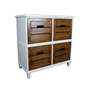 Crutcher 2 Tone 4 Drawer Accent Chest by Breakwater Bay