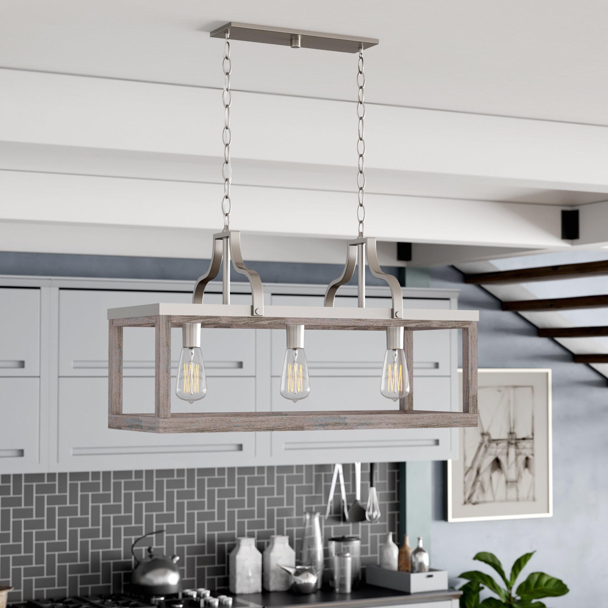 3 Light Linear Kitchen Island Lighting You Ll Love In 2021 Wayfair