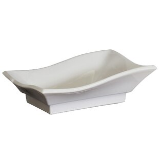 American Imaginations Specialty Ceramic Specialty Vessel Bathroom Sink with Faucet