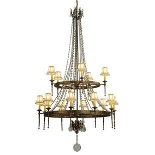Meyda Tiffany 16-Light Wagon Wheel Chandelier
