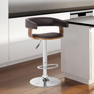 Terhune Adjustable Height Swivel Bar Stool by Orren Ellis 2019 Sale