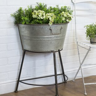 Weyer Clic Country Galvanized Pot Planter
