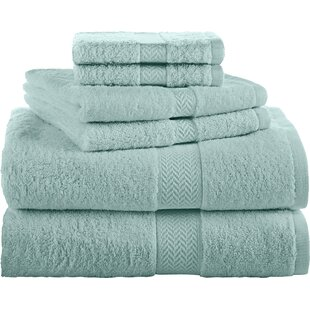 Ringspun 6 Piece 100% Cotton Towel Set