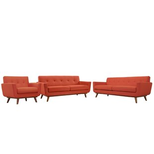 Corrigan Studio Saginaw 3 Piece Living Ro..