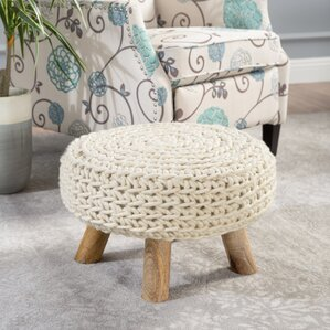 Framingham Fabric Cord Ottoman by Bloomsbury..