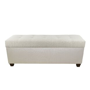 Hearns Button Tufted Upholstered Storage Bench