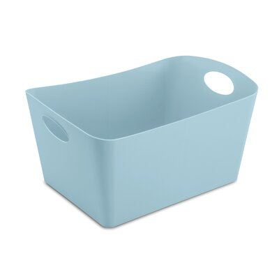 Turn on the Brights Rectangular Plastic Storage Bin Color: Pink, Size: 5.9 H x 11.7 W x 8 D