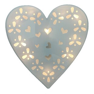 Compare Battery Operated 10-Light LED Heart Night Light By Creative Motion