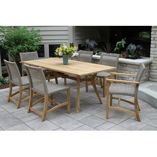 Beachcrest Home Marva Nautical Teak 5 Piece Dining Set
