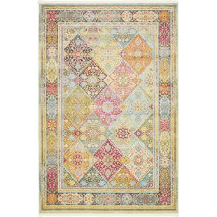 Lonerock Pink/Olive Area Rug by Bungalow Rose