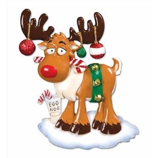 general christmas moose shaped ornament - Christmas Moose
