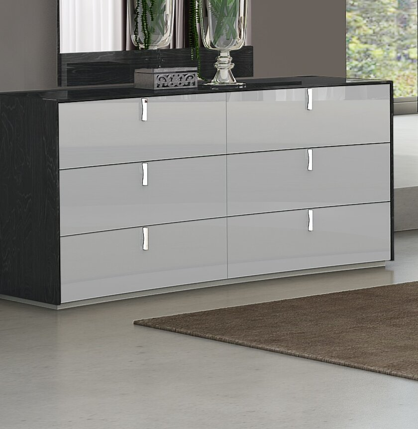 Orren Ellis Trahan 6 Drawer Double Dresser Reviews Wayfair