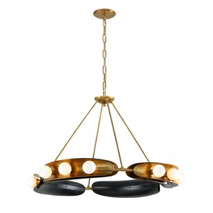 Hopper 12-Light Wagon Wheel Chandelier by Corbett Lighting