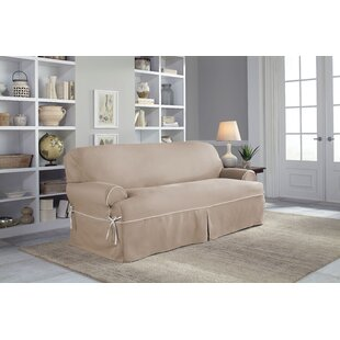 Great choice Twill T-Cushion Sofa Slipcover by Serta Reviews (2019) & Buyer's Guide