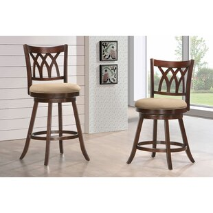 Compare prices Makai 29 Swivel Bar Stool By Darby Home Co