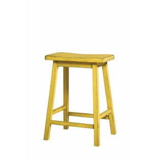 Julian Wooden 24 Bar Stool (Set of 2) by Bay Isle Home