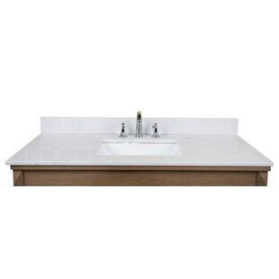 Carrara Quartz 49 Single Bathroom Vanity Top by Renaissance Vanity