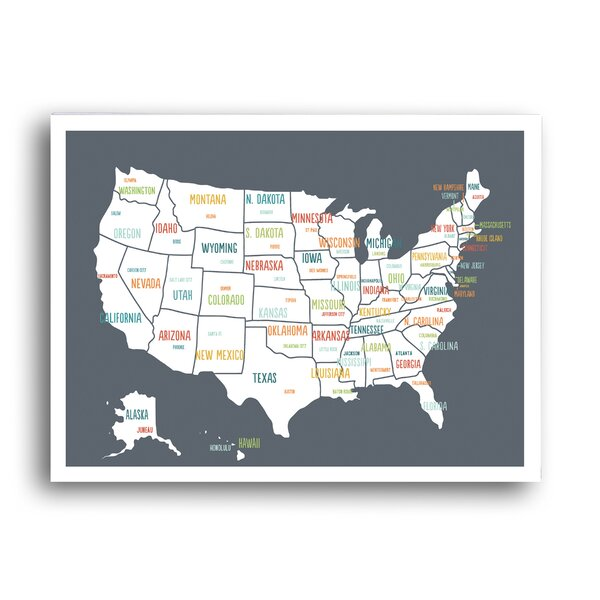 KindredSolCollective USA Map Graphic Art Reviews Wayfairca - Usa map graphic