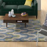 Conroy Geometric Handmade Tufted Multicolor Area Rug