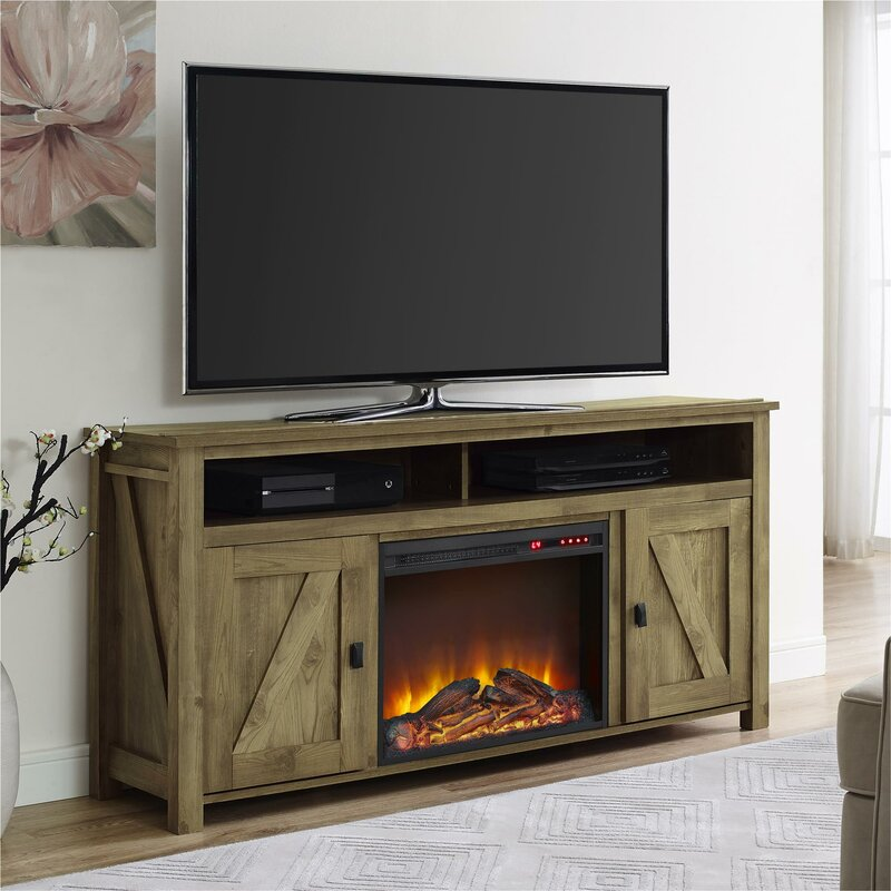 Mistana Whittier Tv Stand For Tvs Up To 78 With Electric