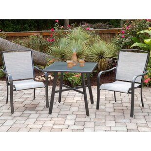 Gayden 3 Piece Sunbrella Bistro Set by Charlton Home