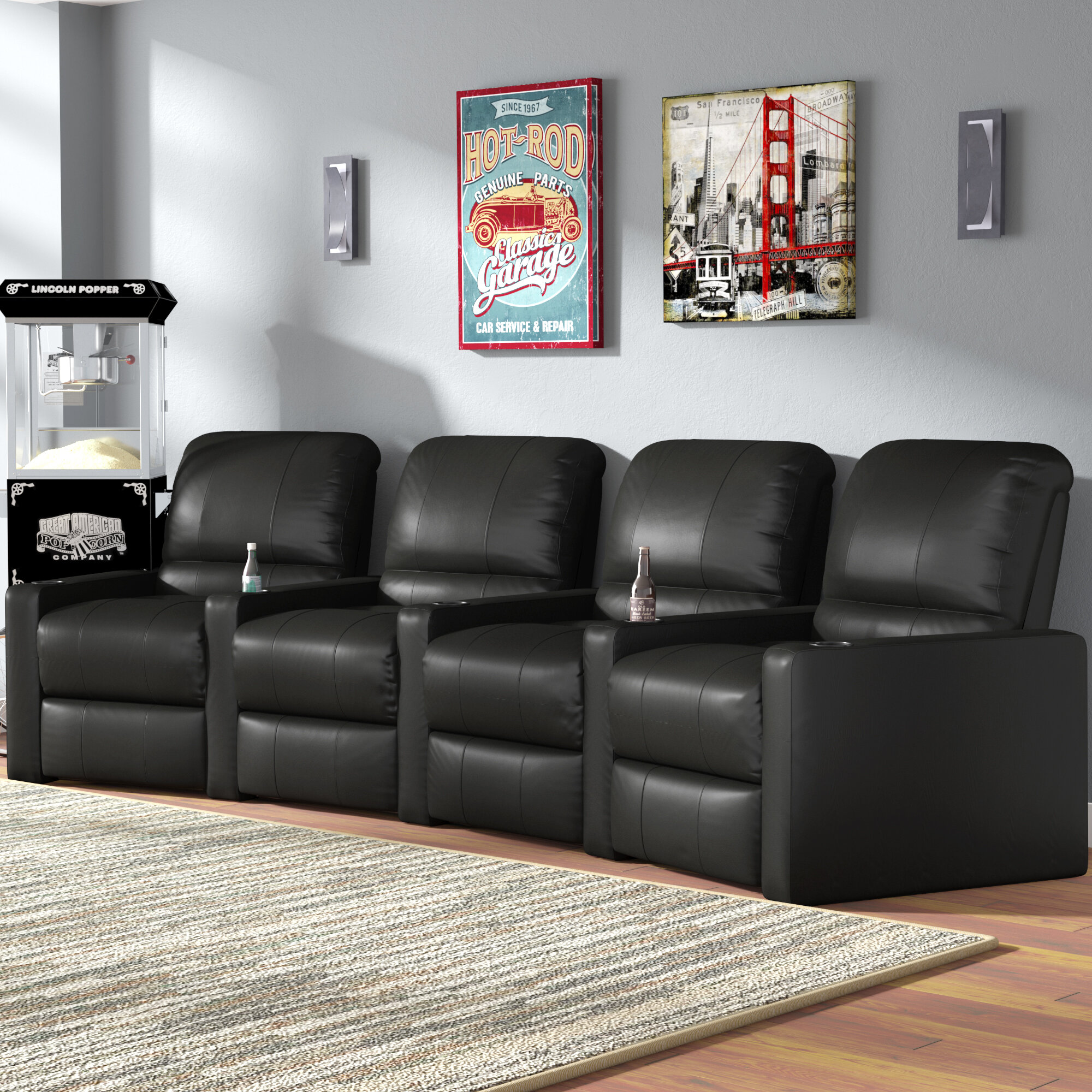 Laude Run Home Theater Curved Row Seating Of 4 Reviews Wayfair