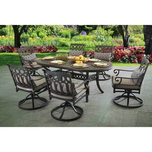 Darby Home Co Derry 7 Piece Dining Set with Cushions
