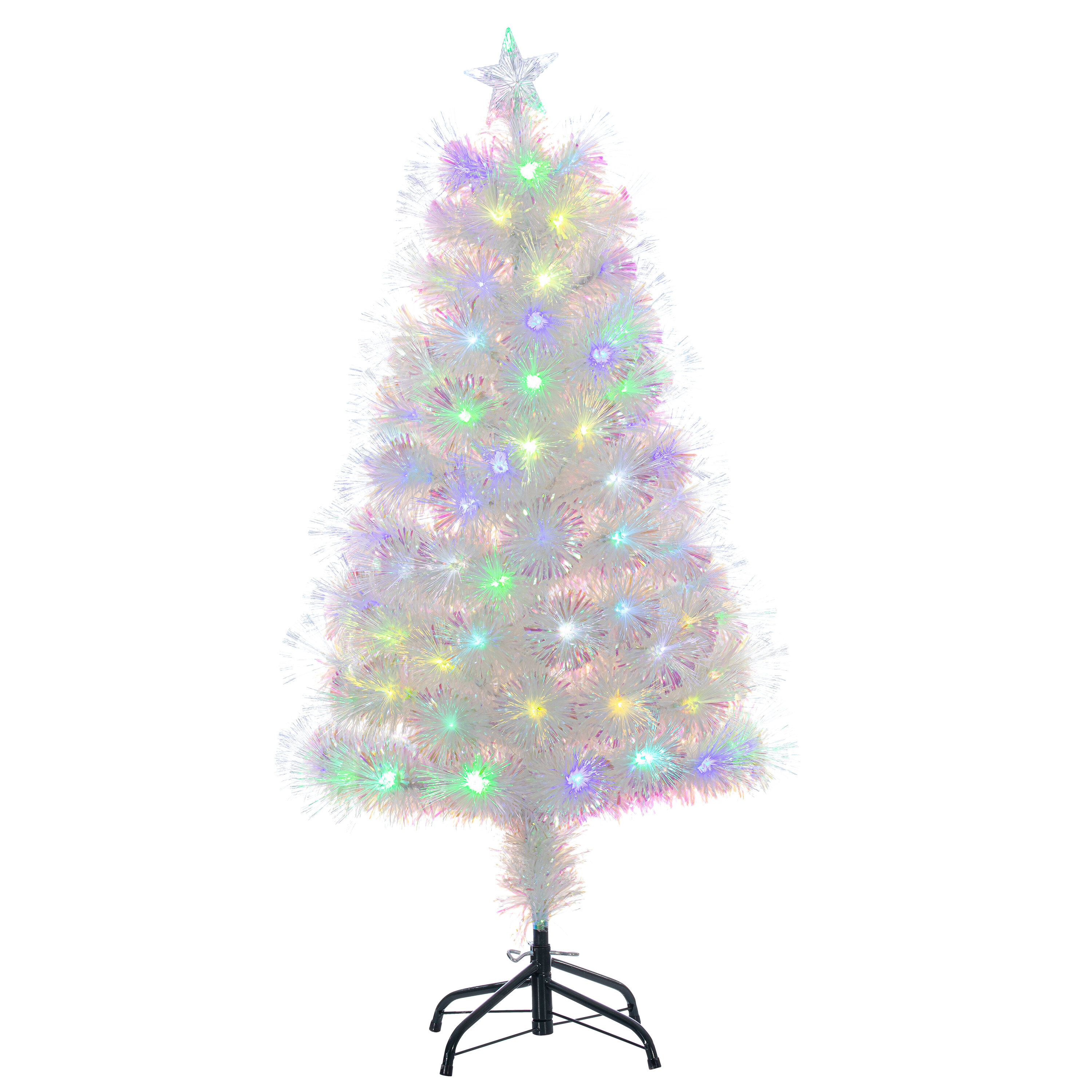 The Holiday Aisle Changin 4 White Pine Artificial Christmas Tree With 119 Multi Color Lights Wayfair