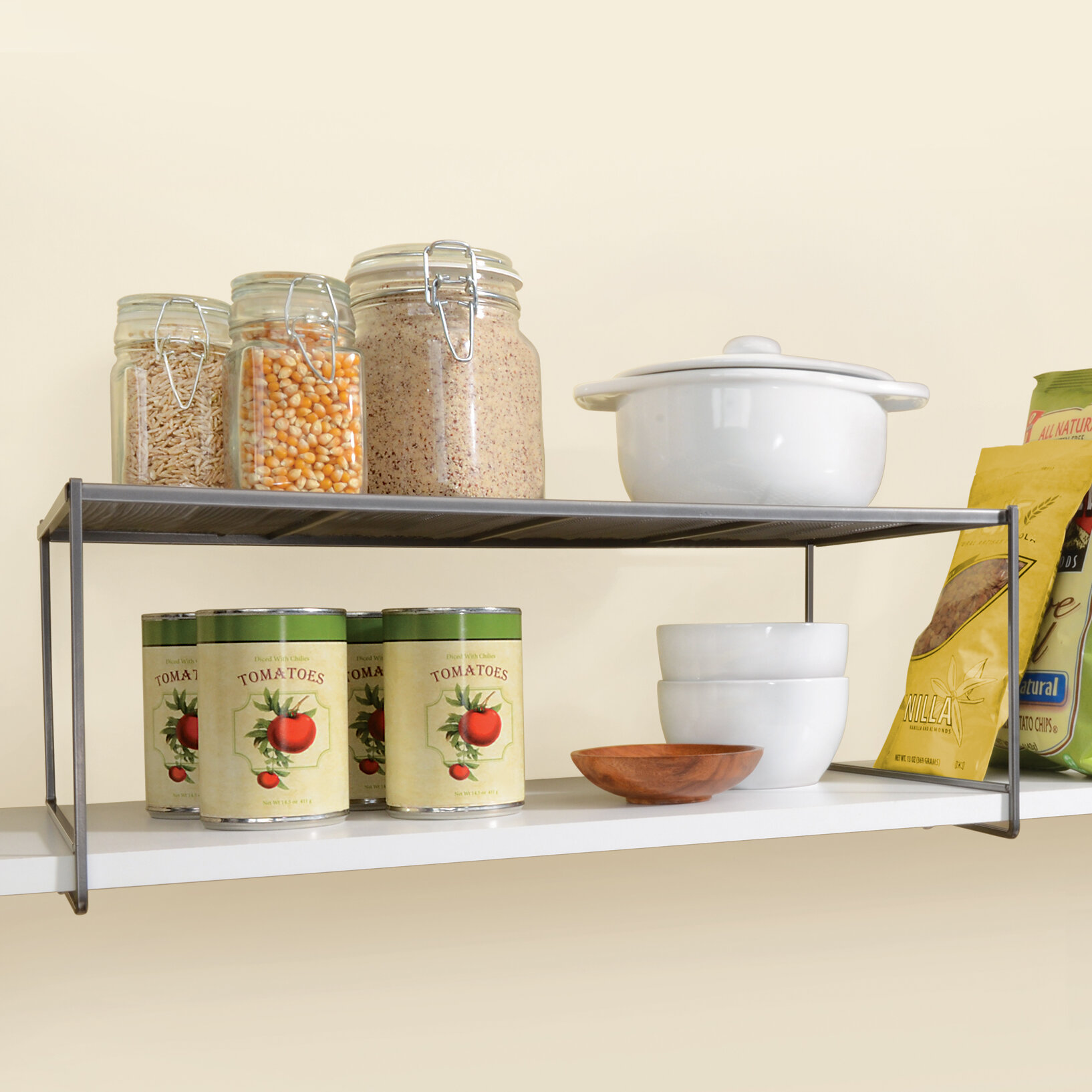 Lynk Locking Large Kitchen Pantry Cabinet Shelf - Closet Shelf ...